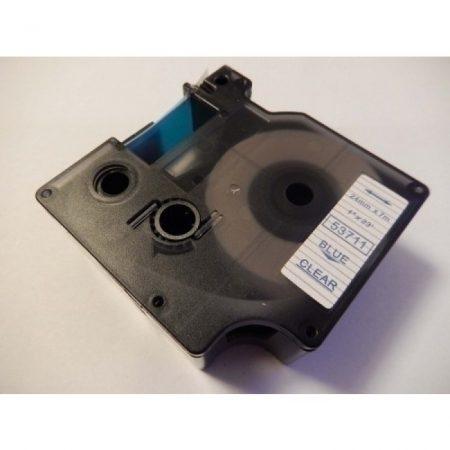 Dymo D1 53711 24mm x 7m kék átlátszó alapon