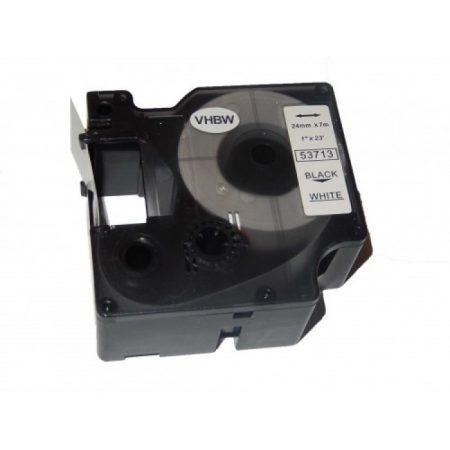 Dymo D1 53713 24mm fekete-fehér feliratozógép szalag