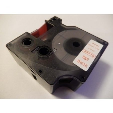 Dymo D1 53715 24mm * 7m fehér alapon piros feliratozószalag
