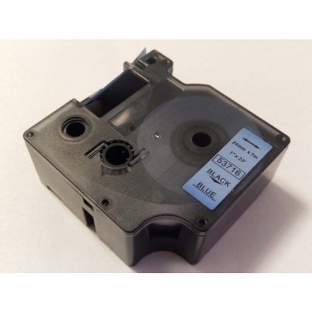 Dymo D1 53716 24mm * 7m kék alapon fekete nyomtatás feliratozószalag kazetta