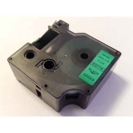 Dymo D1 53719 24mm zöld alapon fekete utángyártott feliratozószalag kazetta