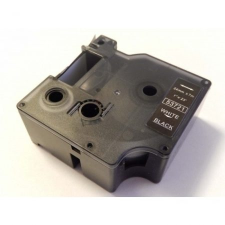 Dymo D1 53721 24mm * 7m fekete alapon fehér utángyártott feliratozószalag kazetta