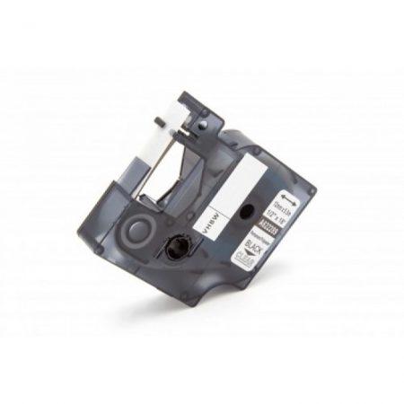Dymo ID1 622289 12mm * 7m átlátszó alapon fekete poliészter utángyártott feliratozószalag kazetta