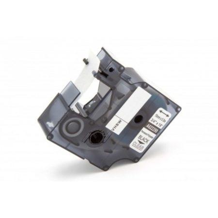 Dymo RHINO 622290 19mm * 7m átlátszó alapon fekete utángyártott poliészter feliratozószalag kazetta