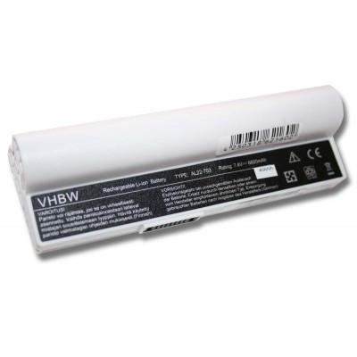 Asus AL22-703 Eee PC 900a utángyártott laptop akkumulátor akku - 6600mAh (7.4V) fehér