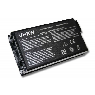 Gateway M520 / 7210 utángyártott laptop akkumulátor akku - 4400mAh (14.8V) fekete