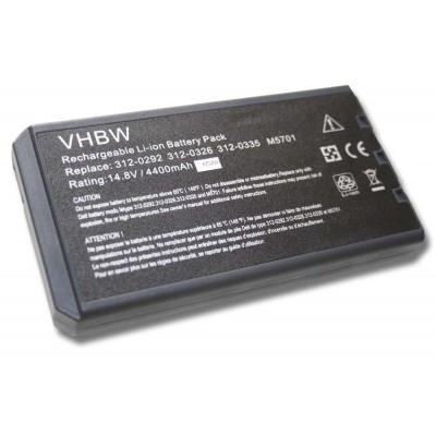 Dell 312-0292, 312-0326, 312-0334, 312-0335, 312-0347 Inspiron 1000 / 1200 / 2200 / Latitude 110L utángyártott laptop akkumulátor akku - 4400mAh (14.8V) fekete