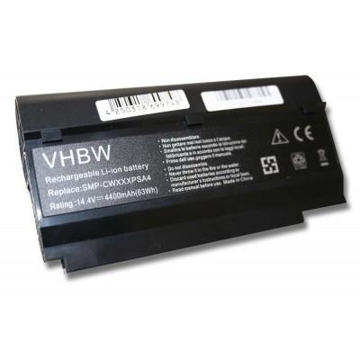 Fujitsu-Siemens DPK-CWXXXSYA4 utángyártott laptop akkumulátor akku - 4400mAh (14.4V) fekete