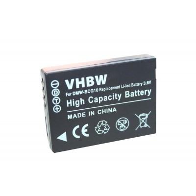 Panasonic DMW-BCG10E  utángyártott digitális fényképezőgép akkumulátor akku 750mAh (3.6V)