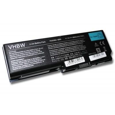 Toshiba PABAS100, PABAS101 utángyártott laptop akkumulátor akku - 6600mAh (11.1V) fekete