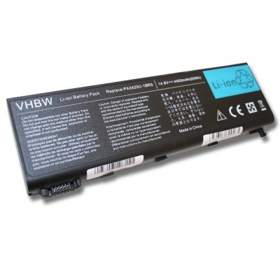 Toshiba PABAS059 utángyártott laptop akkumulátor akku - 4400mAh (14.4V) fekete