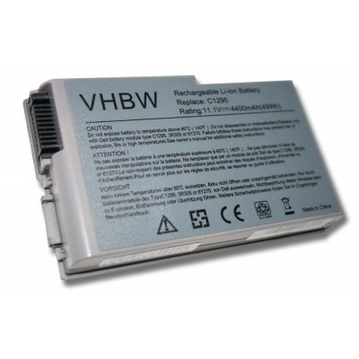 Dell 310-4482, 310-5195, 312-0068, 312-0191, 312-0309 utángyártott laptop akkumulátor akku - 4400mAh (11.1V) silver