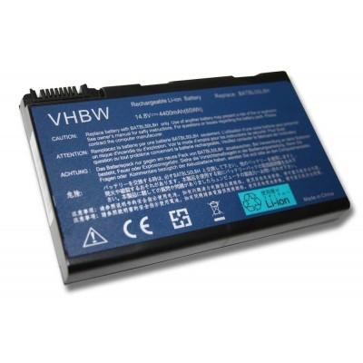 Acer BT.00803.015, LC.BTP01.017, LC.BTP01.019 utángyártott laptop akkumulátor akku - 4400mAh (14.8V) fekete