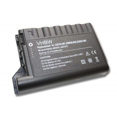 HP Compaq Evo N600 / N610 / N620 (229783-001, 232633-001, 250848-B25) utángyártott laptop akkumulátor akku - 4400mAh (14.8V) fekete