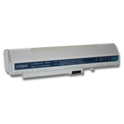Acer LC.BTP00.017, LC.BTP00.018 utángyártott laptop akkumulátor akku - 8800mAh (11.1V) fehér