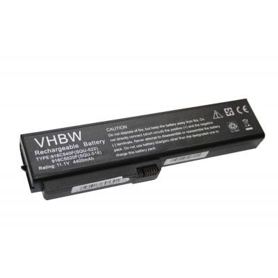 FUJITSU-SIEMENS SQU-518, SQU-522 utángyártott laptop akkumulátor akku - 4400mAh (11.1V) fekete