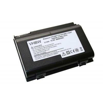 Fujitsu-Siemens FPCBP176, FPCBP176AP (Lifebook A1220 stb.) utángyártott laptop akkumulátor akku - 4400mAh (14.8V) fekete