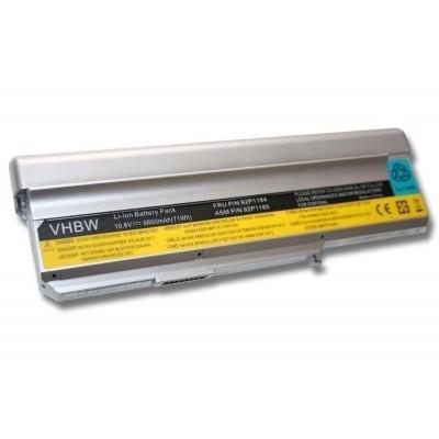 Lenovo 40Y8315, 40Y8317, 40Y8322 utángyártott laptop akkumulátor akku - 6600mAh (10.8V) ezüst