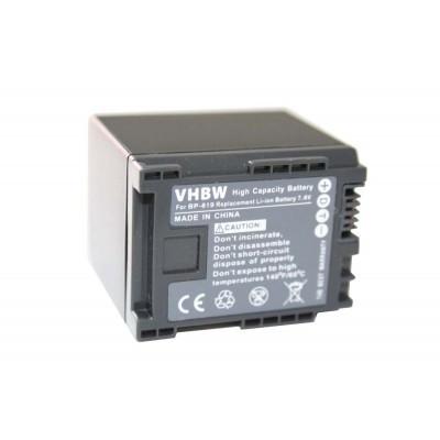 Canon BP-819 videókamera utángyártott li-ion akku akkumulátor - 1600mAh (7.2V) információs chippel