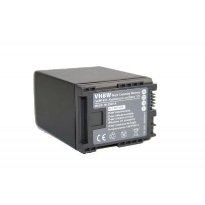 Canon BP-827 videókamera utángyártott li-ion akku akkumulátor - 2400mAh (7.2V) információs chippel