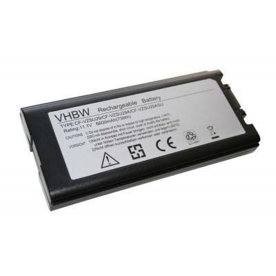 Panasonic CF-VZSU29 utángyártott laptop akkumulátor akku - 6600mAh (11.1V) fekete