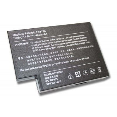 Compaq 319411-001, 361742-001, 371785-001, 371786-001, 372114-001, 372114-002 utángyártott laptop akkumulátor akku - 4400mAh (14.8V) fekete