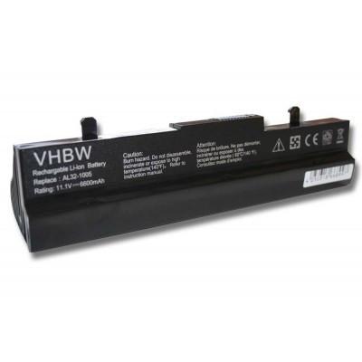 Asus AL31-1005, AL32-1005 (Eee PC 1001 / 1005 / R101 / R105 stb.) utángyártott laptop akkumulátor akku - 6600mAh (11.1V) fekete