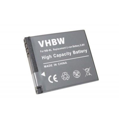 Canon NB-8L kompatibilis digitális fényképezőgép akkumulátor akku 600mAh (3.6V)