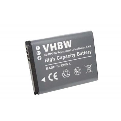 Samsung BP70a  utángyártott digitális fényképezőgép akkumulátor akku 500mAh (3.6V)