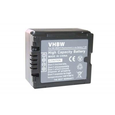 Panasonic VW-VBG070 videókamera utángyártott li-ion akku akkumulátor - 700mAh (7.2V) információs chippel