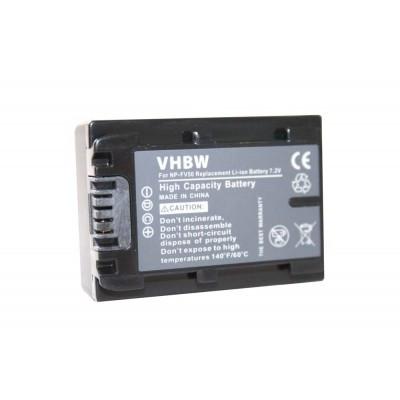 Sony NP-FV50  videókamera utángyártott li-ion akku akkumulátor - 600mAh (7.2V) with info chip