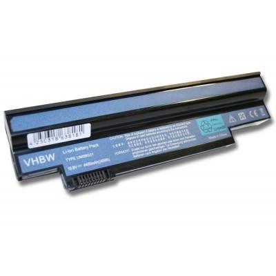 Acer UM09G31, UM09G41, UM09G51, UM09H31, UM09H41 utángyártott laptop akkumulátor akku - 4400mAh (10.8V) fekete
