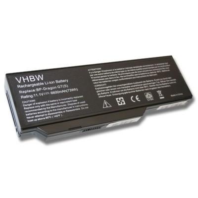 Medion/Packard Bell utángyártott laptop akkumulátor akku - 6600mAh (11.1V) fekete