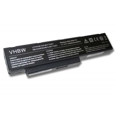 Fujitsu-Siemens SQU-808-F01, SQU-808-F02, SQU-809-F01, SQU-809-F02 utángyártott laptop akkumulátor akku - 4400mAh (11.1V) fekete