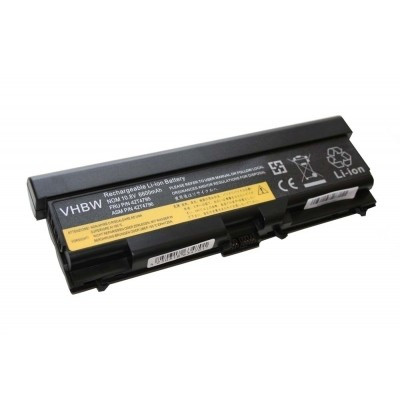 Lenovo 42T4235, 42T4731, 42T4733, 42T4737, 42T4753, 42T4757 (Lenovo T410 T510 E40 E50 stb.) utángyártott laptop akkumulátor akku - 6600mAh (10.8V) fekete