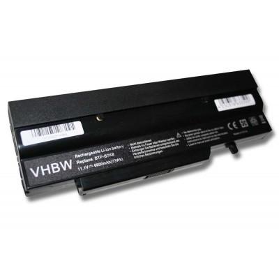 Fujitsu BTP-B7K8 utángyártott laptop akkumulátor akku - 6600mAh (11.1V) fekete