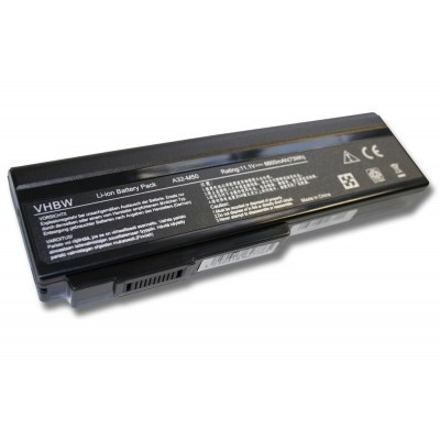 Asus A32-M50, A32-N61, A32-X64, A33-M50 utángyártott laptop akkumulátor akku - 6600mAh (11.1V) fekete