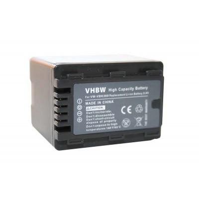 Panasonic VW-VBK360 videókamera utángyártott li-ion akku akkumulátor - 3200mAh (3.6V)