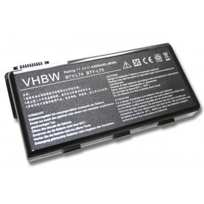 MSI BTY-L74, BTY-L75 (CR500, CR600, CR610, CR630, CX500 stb.) utángyártott laptop akkumulátor akku - 4400mAh (11.1V) fekete