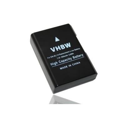 Nikon EN-EL14 utángyártott digitális fényképezőgép akkumulátor akku 950mAh (7.2V) információs chippel