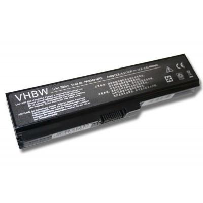 Toshiba PA3817U-1BAS, PA3817U-1BRS utángyártott laptop akkumulátor akku - 4400mAh (10.8V) fekete