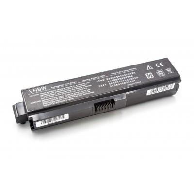 Toshiba PA3817U-1BAS (Satellite L700 / L730 / L735 / L740 / L745  / L750 / L755 / L775) utángyártott laptop akkumulátor akku - 6600mAh (11.1V) fekete