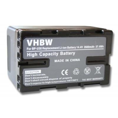 Sony BP-U30 videókamera utángyártott li-ion akku akkumulátor - 2600mAh (14.4V) információs chippel