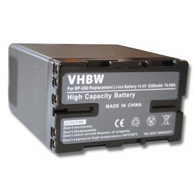 Sony BP-U60 videókamera utángyártott li-ion akku akkumulátor - 5200mAh (14.8V) információs chippel