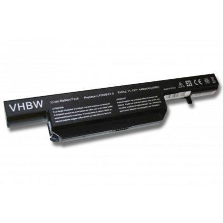 Clevo C4500BAT-6, C4500BAT6 utángyártott kompatibilis 4400 mAh notebook akku