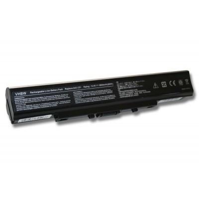 Asus A32-U31, A42-U31 utángyártott laptop akkumulátor akku - 6600mAh (14.8V) fekete