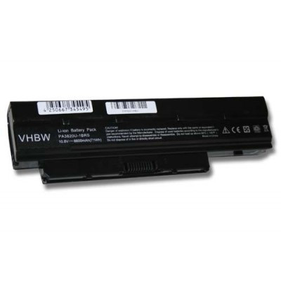 Toshiba PABAS231, PABAS232 utángyártott laptop akkumulátor akku - 6600mAh (10.8V) fekete