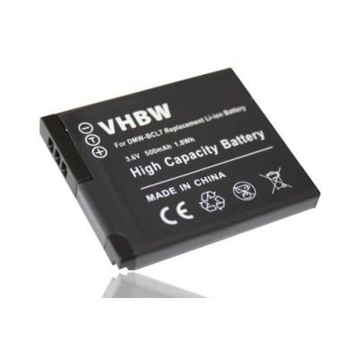 Panasonic DMW-BCL7 utángyártott digitális fényképezőgép akkumulátor akku 500mAh (3.6V)