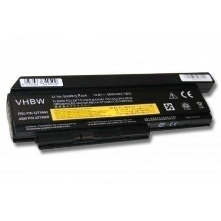 Lenovo Thinkpad X220 stb. kompatibilis utángyártott 6600 mAh 9-cellás nagy kapacitású notebook akkumulátor