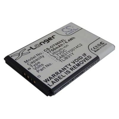 Alcatel CAB31Y0014C2 OT 960 / 960C / 995s utángyártott mobiltelefon li-ion akku akkumulátor - 1750mAh (3.7V)
